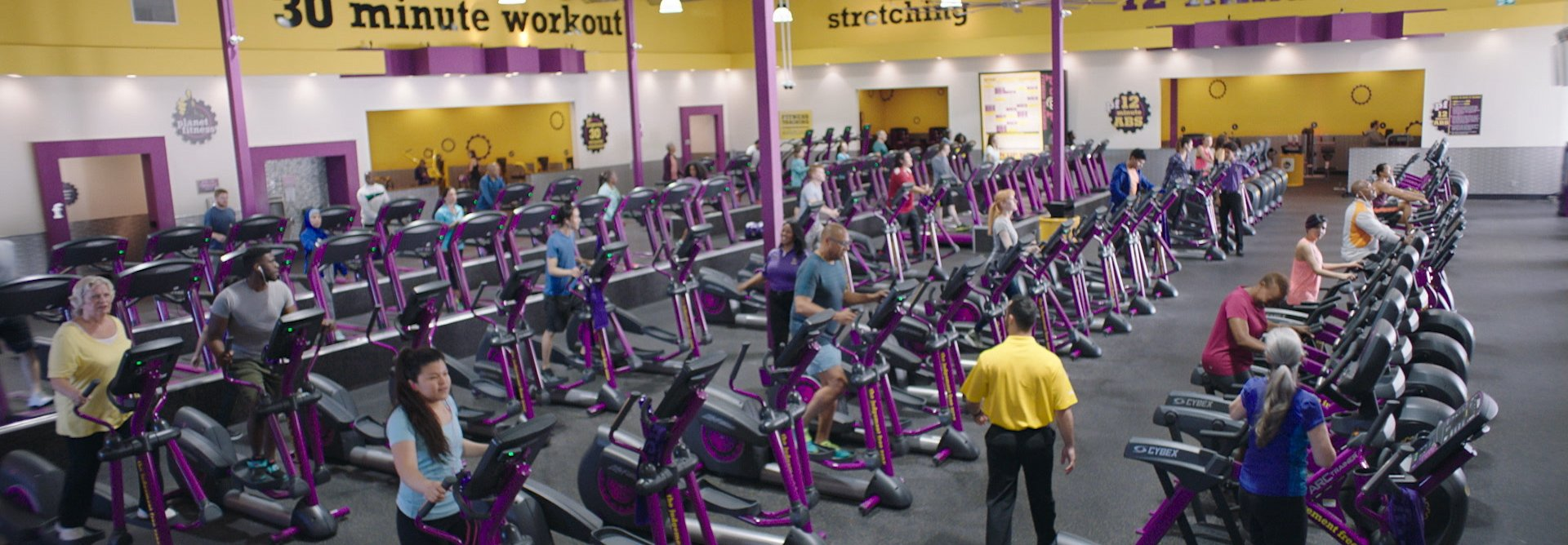 planet fitness club interior